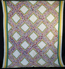VINTAGE QUILT 1930s IRISH CHAIN POSTAGE STAMP HAND SEWN SMALL PIECES 90