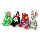 Ty Beanie Babies Kicks, July Bear, Fortune & Hopper Lot of 4