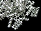 200 Pcs 12mm Silver Plated Hollow Tube Spacer Beads Jewellery Craft Beading E210