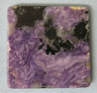 15 grams Russian Charoite Slab purple polished face some chatoyant for cabochons