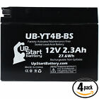 4x Battery for 2006 2007 Yamaha TTR50E 50CC