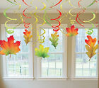 12 Fall Leaves Leaf Autumn Harvest Thanksgiving Party School Church Decoration