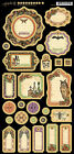 Graphic45 Journaling Chipboard RARE ODDITIES 1 scrapbooking 27 PCS Vintage