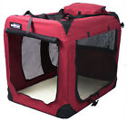 EliteField Maroon 3 Door Folding Soft Dog Crate Cage Kennel 5 Sizes