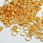 100 Sets Gold Eyelet 4 5 6 8 10mm w Washer Grommets Scrapbooking Leather Craft