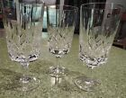3 Gorham Cut Leaded Crystal Stemmed Wine Glasses Signed 7 1/4