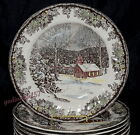 Johnson Brothers Friendly Village School House * 8 DINNER PLATES * 9 7/8