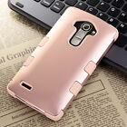 Heavy Duty Rugged Shockproof Hybrid Rubber Hard Case Cover For LG G4 Rose Gold