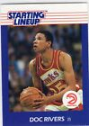 1988  DOC RIVERS - Kenner Starting Lineup Card - Atlanta Hawks