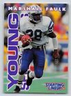 1996  MARSHALL FAULK - Starting Lineup Card - Indianapolis Colts