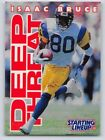 1996  ISAAC BRUCE - Starting Lineup Card - St. Louis Rams