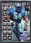 1996  CHRIS SPIELMAN - Starting Lineup Card - Detroit Lions