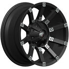 17x9 Black Machined Digger RD09 5x55 12 Rims Open Country RT 37X135X17 Tires
