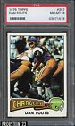 1975 Topps #367 Dan Fouts San Diego Chargers RC Rookie HOF PSA 8 NM-MT