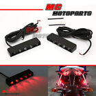 MC New LED Rear Brake Light Red Footpegs Fairing Lighting for BMW