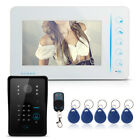 7 LCD Wired Touch Key Video Door Phone Doorbell Entry Intercom System IR Camera