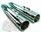 Chrome Milled 4 Slip on Mufflers Set Exhaust Pipe 95 2016 Harley Touring Bagger