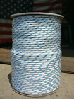 Sailboat Rigging Rope 1 4 x 100 White Blue Double Braided Sheet Halyard Line