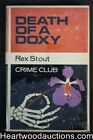 Death of a Doxy by Rex Stout Colins Crime Club First British Edition Nero Wol