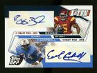 2006 Topps Draft Picks and Prospects EARL CAMPBELL REGGIE BUSH Dual Auto #02 10