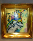 Highly Stylized Art Deco  Astrian or Italian Enamel on Copper  Wall Plaque 1920s