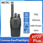 Retevis H777 Walkie Talkie CTCSS/DCS 16CH UHF 5W  VOX Two Way Radio