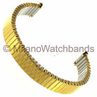 10-14mm Morellato Stainless Steel Shiny Design Gold Tone Twist-O-Flex Watch Band