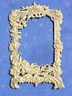 Antique french Gorgeous Floral BRASS Frame  Plaque