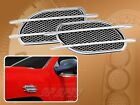 1 PAIR STICK-ON CHROME FENDER VENT ACCENTS FOR 1991-1995 DOMESTIC CAR SUV VAN