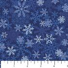 Snowflakes Midnight Blue Woodland Winter Northcott Quilt Fabric by the 1 2 yard
