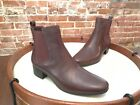 H by Halston Brown Leather Alison Gored Chelsea Mod Ankle Boot 8 NEW