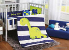 Dino Dinosaur Blue Crib Bedding Set Sheet 6PC Comforter Bumper Baby Shower Gift