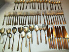 75 VINTAGE  SPOONS, KNIVES, FORKS, FLATWARE, ROGERS, NICKEL SILVER, LADY BETTY +