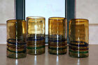 4-PC MEXICAN HAND BLOWN GLASSES 6