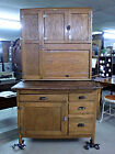 Napanee Dutch Kitchenette 2 Piece Oak Kitchen Cabinet Indiana Hoosier Style Cupb