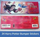24 Bumper Stickers Harry Potter Book of Large Full Color WIZARD Stickers 3x9 NEW