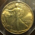 1991 American Eagle gold 1 Troy Ounce Silver