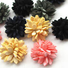 Upick 10 50PCS Ribbon Flowers Bow Felt Paded Appliques Wedding Decor Mix