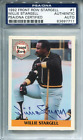 Willie Stargell Autographed 1992 Front Row Card (PSA)