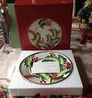 Fitz & Floyd  Noel Classique Holly & Berry Hanging  Porcelain Wall Shelf Plate