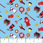 Dalmatian Rescue Northcott Fabric Quilt Fire Hydrant Equipment 3 YARDS RB