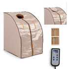 Large IR FAR Infrared Negative ION Portable Sauna Relaxation Home with Chair NEW