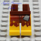 NEW Lego Pirate YELLOW MINIFIG LEGS Ship Castaway Brown Male Boy Torn Patch Rags