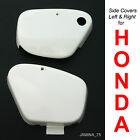 Honda Super Cub 50 C50 C65 C70 C90 CM90 CM91 White Side Cover Panel Pair
