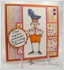 EUNICE ALL DRESSED UP small size LK  examples ART IMPRESSIONS RUBBER STAMPS