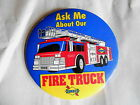 Vintage 1995 Sunoco Gas Station Toy Fire Truck Advertising Pinback Button