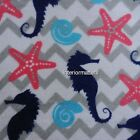 KASSA FINA COASTAL 3pc BATH TOWEL SET TOWELS starfish seashells seahorse New