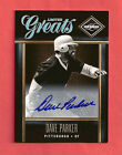 2011 Dave Parker Panini Limited Auto 499 - Limited Greats - Pittsburgh Pirates