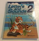 Abeka Letters and Sounds 2 Phonics Seatwork Teacher key 3rd Edition