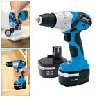 DRAPER 14.4V CORDLESS RECHARGEABLE VARIABLE SPEED ELECTRIC DRILL + FAST CHARGER